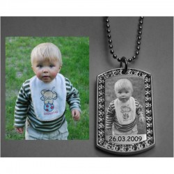 PHOTO PENDANT WITH CRYSTALS 22x36 mm