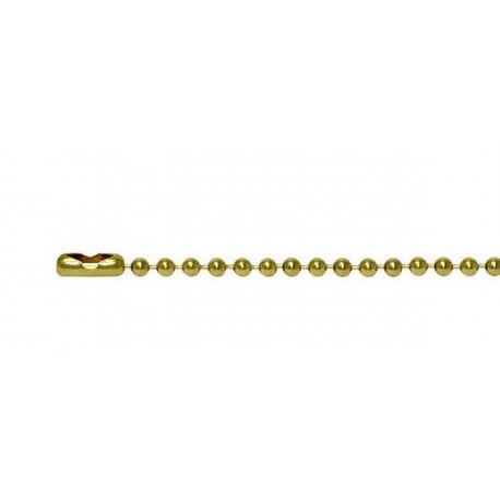 Gold ball-chain for dogtags