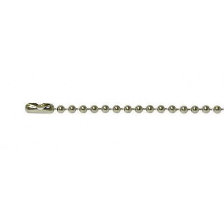 Silver ball-chain for dogtags