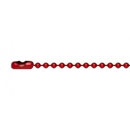 Red ball-chain for dogtags