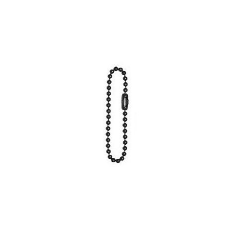 Short black ball-chain for dogtags