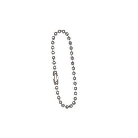 Short silver ball-chain for dogtags