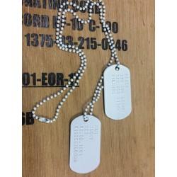 Dog Tag set incl. customization, white