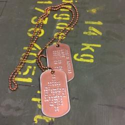Dog Tag set, custom made, vintage cooper