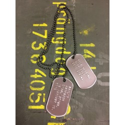 Dog Tag set, custom made, vintage brown