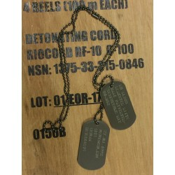 Dog Tag set, custom made, oliv