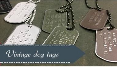 Vintage dog tags
