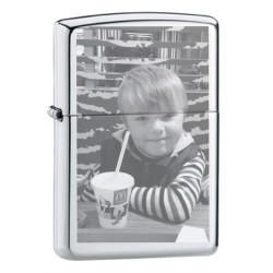 Engraved photo lighter