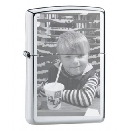 Engraved photo lighter