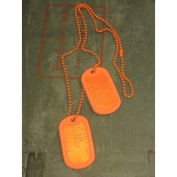 Dog Tag set incl. customization, orange